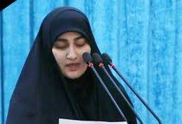 زینب سلیمانی در روز وداع تهران با سپهبد شهید سلیمانی